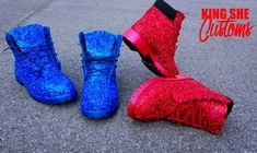 Items similar to Custom Glitter Timberlands on Etsy Denim Timberland Boots, Timberland Waterproof Boots, Glitter Timberlands, Yellow Boots, Shoe Company, Crystal Brooch, Hunter Boots, Rubber Rain Boots, Leather Boots
