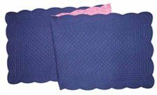 14X51 Inches Quilted RUNNER, BLUE/RED CHECK by C&F. $26.39
