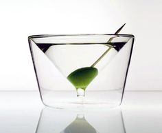 Inside out martini glass.  Finally, a martini glass that is sturdy!