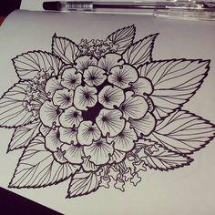Lantana camara  Flower sketch tattoo design  #Flower #tattoodesigns #tatuaje #flores #inkstagram #leaf #tattoo #sketch #tradicional #traditionalart #ink #pen #lantana #draws #drawings #sketchbook