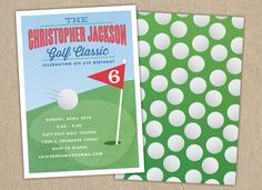 Mini Golf Party Invitation / Childrens Party by LauraBolterPaper, $18.00
