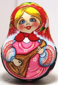 Roly Poly Bell Daisy Balalaika Girl traditional by Viktoriyasshop