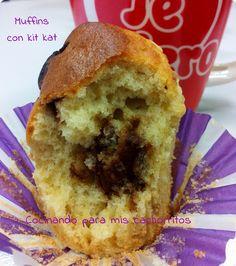 Cocinando para mis cachorritos: (¿Muffins o magdalenas?) Muffdalenas de kit kat