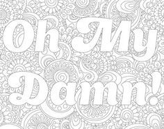 Swear coloring page with poem with flower ornaments. by PaperBro