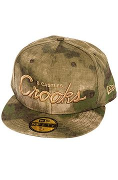 The Stadium Crooks Fitted Hat in French Camo by Crooks and Castles