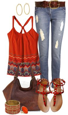 """Casual Spring Reds"" by angela-windsor on Polyvore"