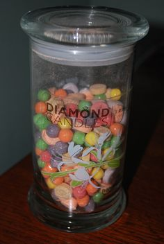 Diamond Candle Jar Reuse - Candy Jar