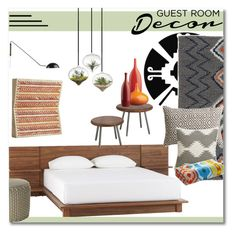 """""""Guest Room Makeover"""" by kmvr316 ❤ liked on Polyvore featuring interior, interiors, interior design, home, home decor, interior decorating and CB2"""