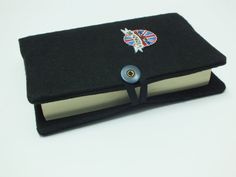 Black fabric book cover Fabric Bible Cover flag by Hermitinas
