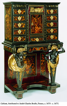 this french cabinet created by André-Charles Boulle, which is really exquisite, luxurious inlaying brass furniture.