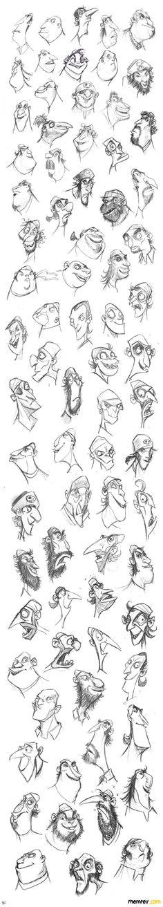 RHEMREV.COM | Visual development: Pirate heads!