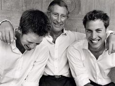 The princes and Charles look especially good here, don't you think?  I think it's because they all look so happy and comfortable together.  Call me crazy but Prince William looks even more handsome here in this photo than he did on his wedding day.
