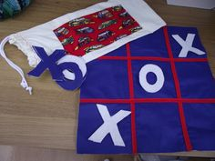 Noughts and crosses handmade felt board game