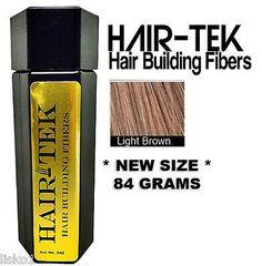 HAIR-TEK Hair Building Fibers,1_ 84gms_ Lt Brown *NEW SIZE * Hair Loss Concealer