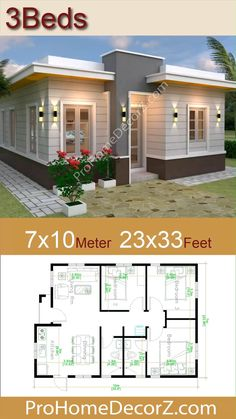 Model House Plan, Sims House Plans, Dream House Plans, Small House Plans, Small House Living, Bungalow House Plans, Room Kitchen, Dining Room, Simple House Design