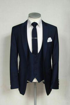 Navy Blue Groom Tuxedos Wedding Men Suits Formal Best Man Party Business Suit for sale online Groom Wear, Groom Outfit, Groom Attire, Groom Suits, Navy Blue Groom, Navy Blue Suit, Blue Suits, Blue Suit Men, Navy Suit Tie