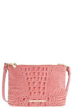 Brahmin 'Perri' Croc Embossed Leather Crossbody Bag available at #Nordstrom