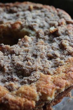 Sour Cream Coffee Cake STREUSEL: (divide this between 2 bowls) 1c all purpose flour; 1c sugar; 1/2c light brown sugar; 2T ground cinnamon; 4T unsalted butter, cold; 1c pecans, chopped CAKE: 12T unsalted butter (1½ sticks); 4 large eggs; 1½c sour cream (divided); 1T vanilla; 2¼c all purpose flour; 1¼c sugar; 1T baking powder; ¾t baking soda; ¾t salt