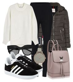 Sem título #4764 by beatrizvilar on Polyvore featuring DKNY, Moncler, adidas, Olivia Burton, Le Specs and Givenchy