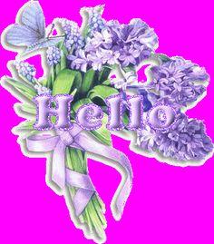 Hello Flower Graphic, lavender