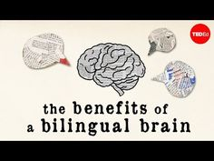 Mia Nacamulli details the three types of bilingual brains and shows how knowing more than one language keeps your brain healthy, complex and actively engaged. Learning A Second Language, Dual Language, First Language, Learning Spanish, Language Classes, Sign Language, Good Paying Jobs, Learn Portuguese, Learn English