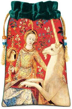 The Lady and the Unicorn. Medieval tapestry by BabaStudioPrague