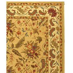 Handmade Paradise Ivory Wool Rug (8'9 x 11'9)