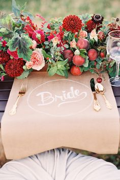 Love this simple table setting!