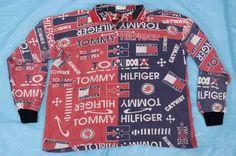 VTG Tommy Hilfiger Colorblock Shirt XL Collared Sweatshirt Red Catwalk Retro #TommyHilfiger #PoloRugby