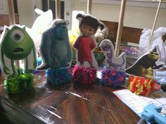 Soo easy to make Monsters inc characters base. Ill post on how to DIY!!! I love theseee