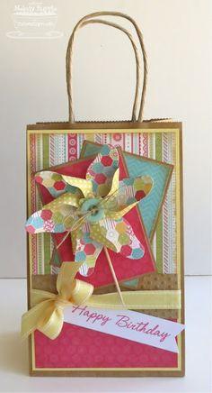 A Paper Melody: Pinwheel Gift Bag MFTWSC77