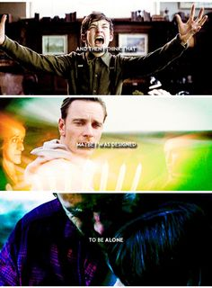 This breaks my heart << Erik can be an ass but he's also a precious baby that needs hugs and love and a freaking break. Xmen, Erik Lehnsherr, Charles Xavier, Cherik, Man Movies, Michael Fassbender, Marvel Dc Comics, Marvel Movies, Marvel Cinematic Universe