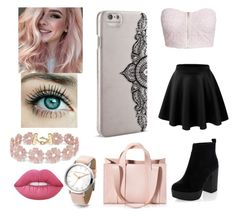 """pink 💄💗"" by dreamingirl7 ❤ liked on Polyvore featuring Lime Crime, BaubleBar, Corto Moltedo, Nanette Lepore, New Look, LE3NO and NLY Trend"