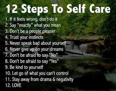 12 Steps to Self Care / Change your attitude, Change your life... Quotes for inspiration...