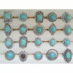 Türkiz köves gyűrűk