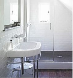 This is the bathroom I used as inspiration for our new basement bathroom :)