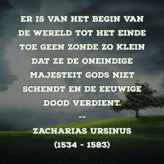 Geen zonde zo klein - Zacharias Ursinus (1534 – 1583)
