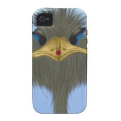 George And His Visitor Vibe iPhone 4 Case. By #OneArtsyMomma $49.95 #ostrich #ladybug #safarianimal