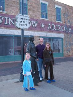 Standin' on the corner in Winslow, AZ