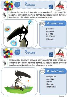 Ecrire à partir d'une image - Le loup.... - Le petit cartable de Sanleane French Immersion, French Class, New Teachers, Daily 5, Learn French, Kids Learning, Literacy, Classroom, Activities