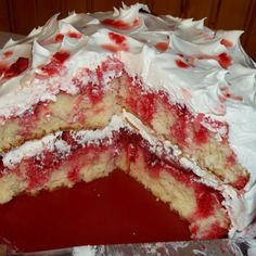 Strawberry Poke Cake Recipe  This one looks really good, and lower in calories since it uses cool whip for the topping. Will def try this one.