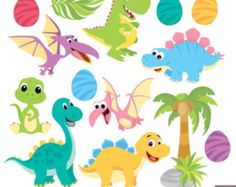 Cute Dinosaur Digital Clipart