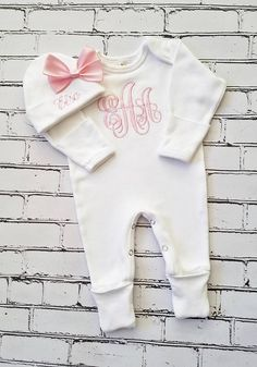 Personalized Name Baby Cotton Sleeper Gown Mashed Clothing Sadie