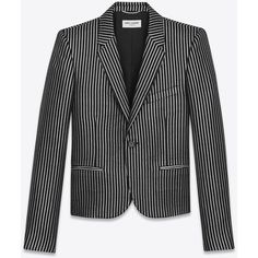 Saint Laurent Single-breasted Club Jacket (€2.580) ❤ liked on Polyvore featuring men's fashion, men's clothing, men's outerwear, men's jackets and yves saint laurent