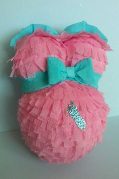 Cute Pregnant belly Pinata for baby shower gender by PinatasUSA