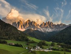 Santa Maddalena with clouds by Hans Kruse
