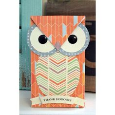 Create adorable owl bags with the Gift Bag Punch Board. They are perfect thank you bags for your teachers at the end I the school year. #wer...