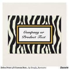 Zebra Print 1/S Custom Business/product card