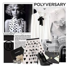"""""""Celebrate Our 10th Polyversary!"""" by polybaby ❤ liked on Polyvore featuring White House Black Market, Chanel, Alice + Olivia, Ross-Simons, Yves Saint Laurent, polyversary and contestentry"""