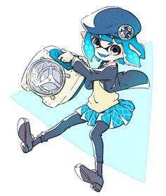 Splatoon 2 Game, Callie And Marie, Chibi Characters, Fanart, 3 Arts, Video Game Art, Blue Aesthetic, Cute Art, Nintendo